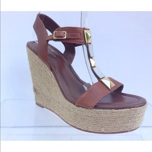 Kate Spade Luxe Brown Wedges Womens Size $258